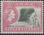 British Virgin Islands 1964 Queen Elizabeth II and Views g