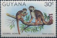 Guyana 1985 Wildlife (Overprinted 1985) c