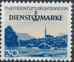 Liechtenstein 1947 Stamps of 1944-1945 overprinted - Official Stamps d