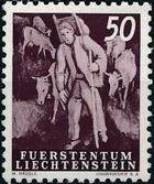 Liechtenstein 1951 Farm Labor h
