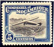 Mozambique Company 1935 Inauguration of the Airmail (2nd Issue) a