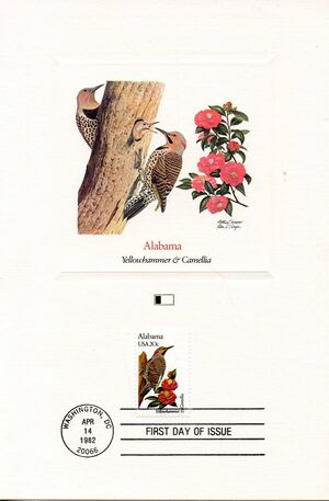 United States of America 1982 State birds and flowers FOLa1