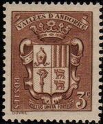 Andorra-French 1936 Coat of arms of Andorra a