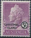 Christmas Island 1958 Queen Elizabeth II c