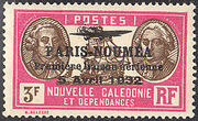 New Caledonia 1933 Definitives of 1928 Overprinted w
