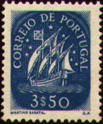 Portugal 1943 Portuguese Caravel (3rd Issue) b