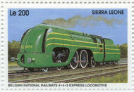 Sierra Leone 1995 Railways of the World ba