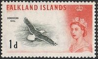Falkland Islands 1960 Queen Elizabeth II and Birds b