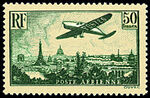 France 1936 Plane over Paris g