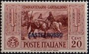 Italy (Aegean Islands)-Castelrosso 1932 50th Anniversary of the Death of Giuseppe Garibaldi b