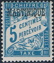 Martinique 1927 Postage Due Stamps of France Overprinted a