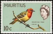 Mauritius 1965 Birds in Natural Colors e