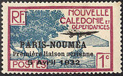 New Caledonia 1933 Definitives of 1928 Overprinted a