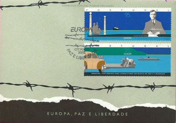 Portugal 1995 Europa - Peace and Freedom FDCa