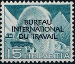 Switzerland 1950 Landscapes and Technology Official Stamps for The International Labor Bureau d