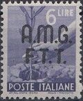 Trieste-Zone A 1947 Democracy (Italy Postage Stamps of 1945 Overprinted) h