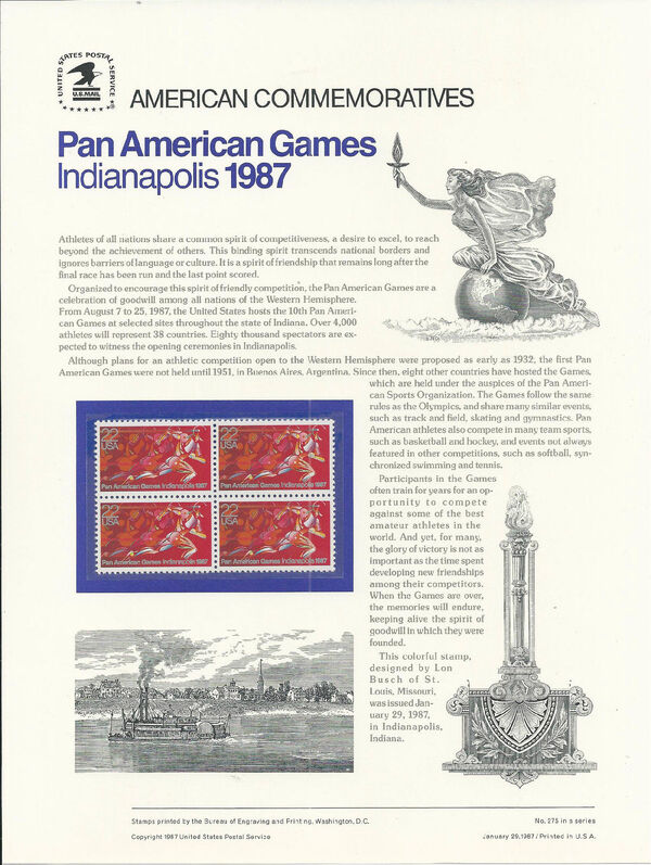 United States of America 1987 Pan American Games, Indianapolis ACa