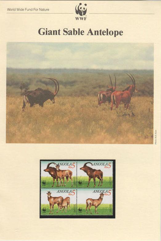 Angola 1990 WWF - Giant Sable Antelope WWFIOP