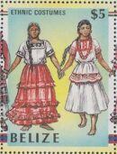Belize 1986 Women in Folk Costumes i