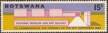 Botswana 1968 Opening of the National Museum and Art Gallery d