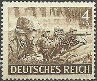 Germany-Third Reich 1943 Armed Forces and Heroes Day d