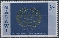 Malawi 1969 50th Anniversary of International Labour Organization d