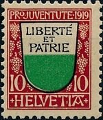 Switzerland 1919 PRO JUVENTUTE - Coat of Arms b