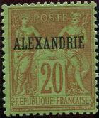 "Alexandria 1899 Type Sage Overprinted ""ALEXANDRIE"" j"