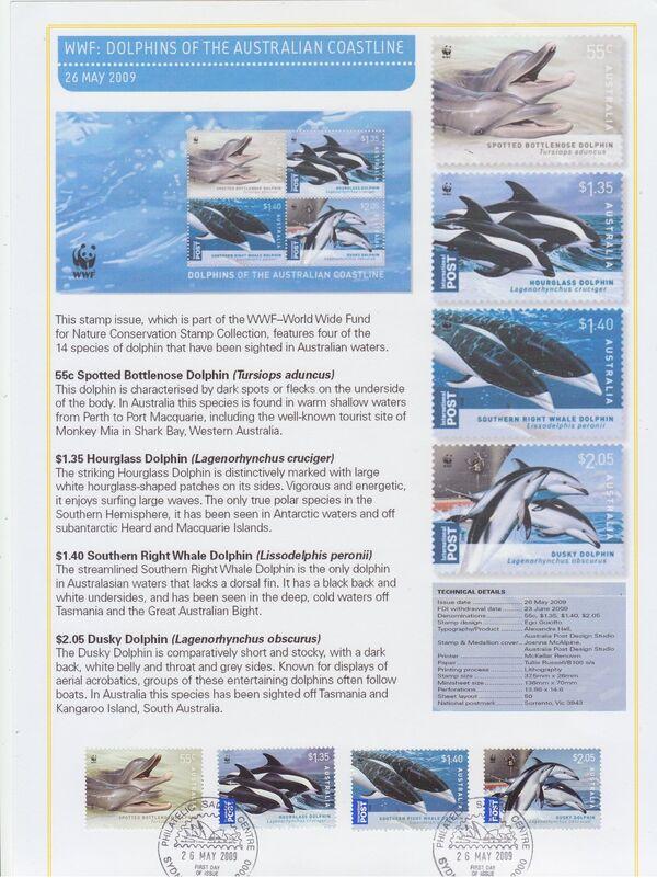 Australia 2009 WWF - Dolphins of the Australian Coastline FOLa