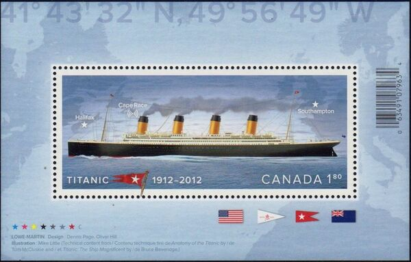 Canada 2012 100th Anniversary of the Titanic Disaster h