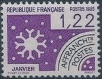 France 1985 Months of the Year - Pre-cancelled (1st Issue) a
