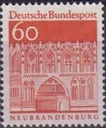 Germany, Federal Republic 1967 Building Structures from Twelve Centuries (2nd Group) f