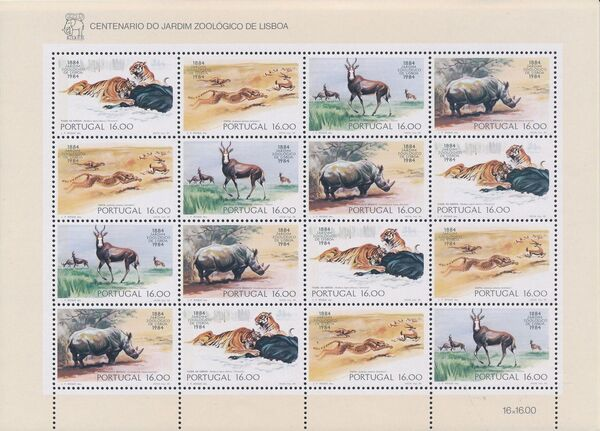 Portugal 1984 100th Anniversary of the Lisbon Zoo h