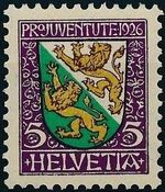 Switzerland 1926 PRO JUVENTUTE - Coat of Arms a