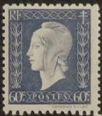 France 1945 Marianne de Dulac (2nd Issue) e