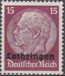 German Occupation-Lothringen 1940 Stamps of Germany (1933-1936) Overprinted in Black h