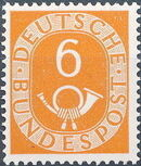 Germany, Federal Republic 1951 Posthorn and Numbers d