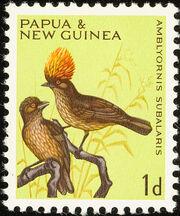 Papua New Guinea 1965 Birds a