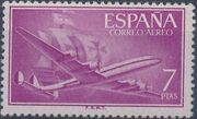 Spain 1956 Plane and Caravel (2nd Group) e