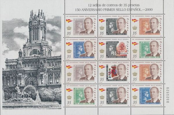 Spain 2000 150th Anniversary of First Spanish Stamp Sa