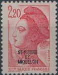 St Pierre et Miquelon 1986 Liberty from France Overprinted ST-PIERRE ET MIQUELON j