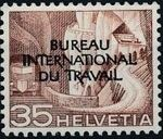 Switzerland 1950 Landscapes and Technology Official Stamps for The International Labor Bureau g