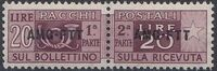 Trieste-Zone A 1949 Parcel Post Stamps of Italy 1946-54 Overprint c