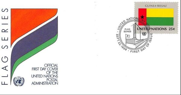 United Nations-New York 1989 Flag Series FDCk
