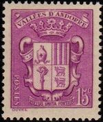 Andorra-French 1937 Coat of arms of Andorra d