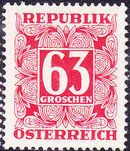 Austria 1957 Postage Due Stamps - Square frame with digit (5th Group) a