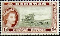 Bahamas 1954 Queen Elisabeth II and Landscapes Issue b