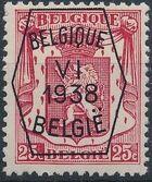 Belgium 1938 Coat of Arms - Precancel (6th Group) c