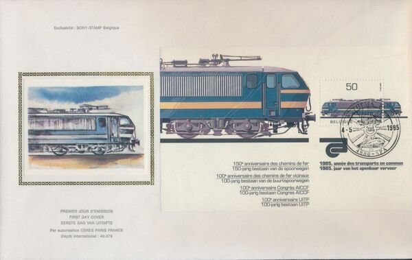 Belgium 1985 Public Transportation Year FDCe
