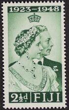 Fiji 1948 Silver Wedding of King George VI & Queen Elizabeth a